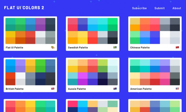 flatuicolors.com renk paletleri